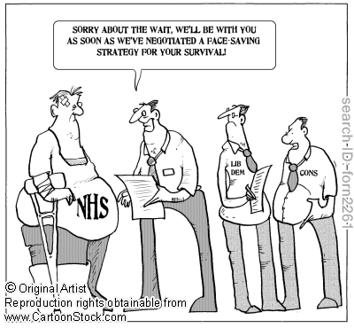 Image result for lying nhs health cartoon
