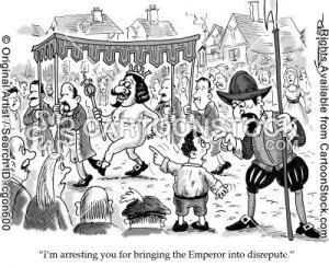 NHS Emperor naked