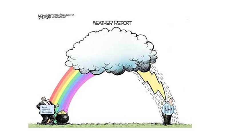 Rainbow over public accounts and NHS-Roger
