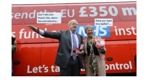 Brexit Bus cartoon