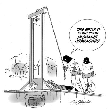 Image result for politician guillotine cartoon
