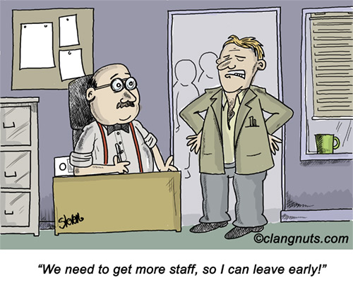 Image result for poor staffing level cartoon